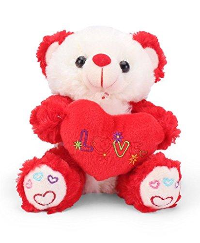 Tickles Red Cute I Love You Heart Teddy Stuffed Soft Plush Toy18 cm