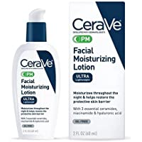 CeraVe PM Facial Moisturizing Lotion | Night Cream with Niacinamide and Hyaluronic Acid | Ultra-Lightweight, Oil-Free…