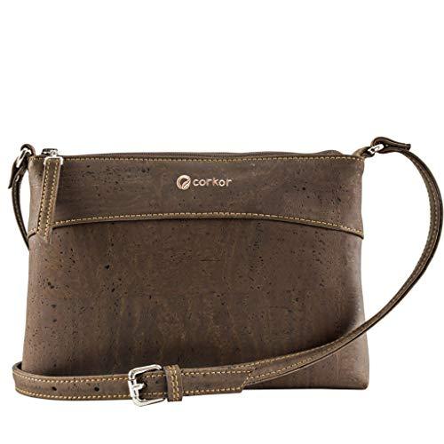 Corkor Cork Purse Crossbody Women | Vegan Bag Cruelty Free Non Leather Brown Color (Leather Bags Non Crossbody)