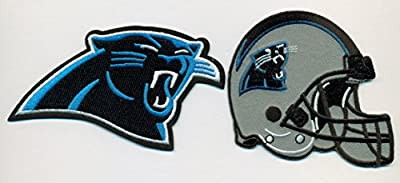 Carolina Panthers Lot of 2 Football NFL Embroidered Iron On Patches Hat Jersey
