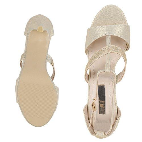 napoli-fashion - Tira de tobillo Mujer Gold Muster