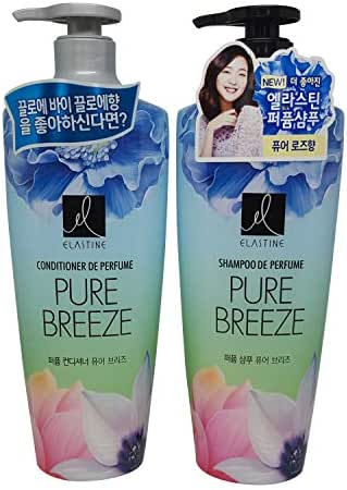 Elastine Perfumed Pure Breeze Hair Shampoo+Conditioner Set 600mlx2