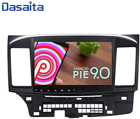 Dasaita 10.2 Inch Android 9.0 Car Stereo for Mitsubishi Lancer with Factory Rockford System 2008 to 2017 GPS Navigation Radio
