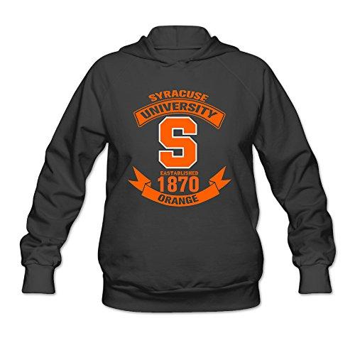 - AUSIN Women's Syracuse University Football Hooded Sweatshirt Black Size L