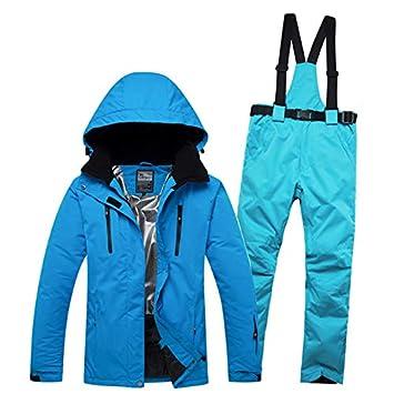 XMDNYE Hombres Y Mujeres A Prueba De Viento A Prueba De Agua Térmica  Masculina Nieve Babero Pantalones Conjuntos Esquí Y Snowboard Traje De Esquí  Hombres ... 9310e82431b