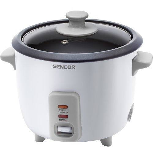 Sencor SRM 0600WH Reiskocher (Volumen 0,6 l - zum Kochen von 450 g Reis / Aufnahmeleistung 300 W / Dreifachsicherheitssystem / Weiß)