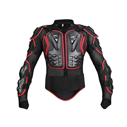 FOONEE Motorcycle Full Body Armor, Thick and Flexible Anti-Fall Breathable Wear-Resistant Shockproof Protective Jacket, Waist Can Be Active Motorcycle Off-Road Unisex