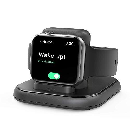 cargador inalambrico para apple watch 6/5/4/3/2/1/se negro
