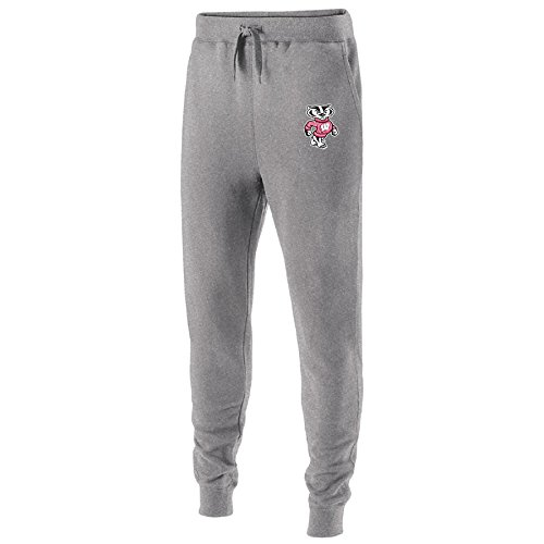 Wisconsin Badgers Fleece - Ouray Sportswear NCAA Wisconsin Badgers Adult Men Holloway Fleece Jogger, Medium, Charcoal Heather