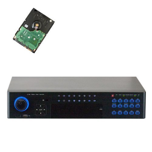 32 Channel Full 960H @30fps Real-Time Recording Security Standalone DVR with HDMI/VGA 1080P Video Output for Surveillance Camera (Pre-installed 2TB HDD, 8x HDD bay, up to 32TB total)