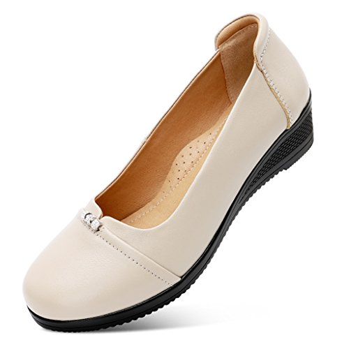 2c956c56ce99c Fond femme Chaussures en cuir femme femmes 40 Abricot cuir pour Abricot en  ZCJB Taille Chaussures ...