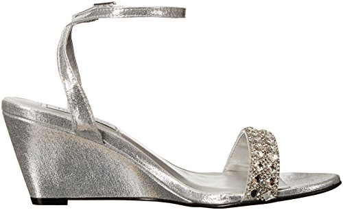 Women's Carter Ups Touch Sandal Wedge Silver Ta5FEpxw