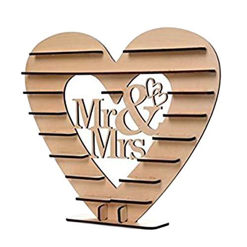 SODIAL Mr & Mrs Soporte de ExhibicioN de Boda de aRbol de CorazoN de Ferrero Rocher Centro de Mesa