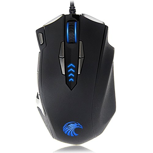 EUASOO Mouse Mice Z-7900 4000 DPI Metal Base MMO/FPS High Pr
