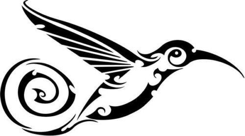 Tribal Hummingbird Bird Animal Wildlife Car Truck Windows Decor Decal Sticker - Die cut vinyl decal for windows, cars, trucks, tool boxes, laptops, MacBook - virtually any hard, smooth surface