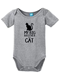 My Big Brother is a Cat Onesie Funny Bodysuit Baby Romper