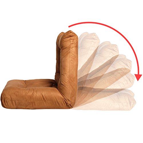 Merax adjustable 5 position folding floor chair lazy sofa for Floor couch amazon