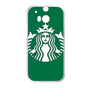 Happy Starbucks design fashion cell phone case for HTC One M8