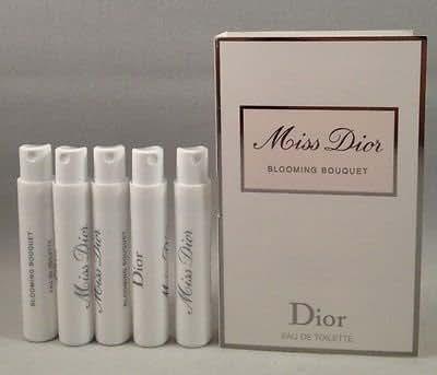Christian Dior Miss Dior Blooming Bouquet Eau De Toilette 0.03 Ounce x 5