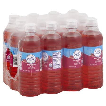 Crystal Light Sugar Free Raspberry Ice Drink, 16 oz. (Single serve cold beverages) Pack of 24