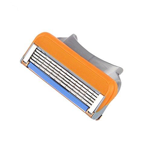 LtrottedJ Man Shaving,Razor Refills Cartridge Blade 5-layer for Gillette Fusion