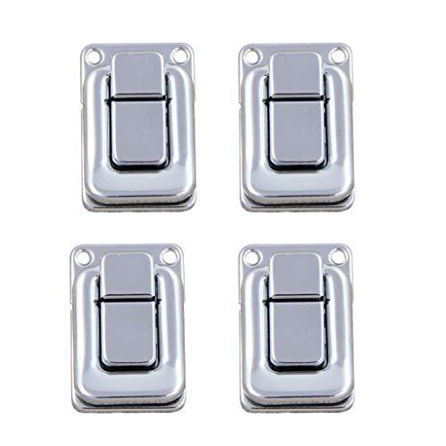 (B Blesiya 4 Piece Wooden Tool Jewelry Box Latch Catch Lock Boxes Hardware Accessory)