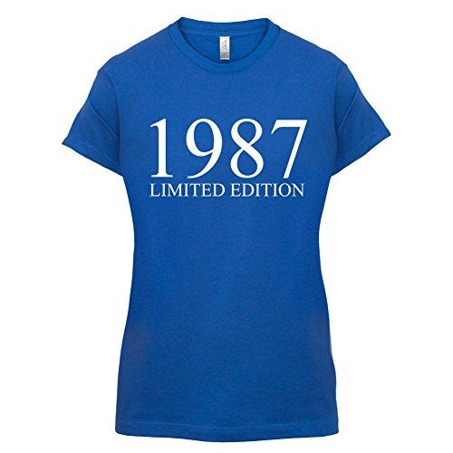 1987 Limierte Auflage / Limited Edition - 30. Geburtstag - Damen T-Shirt - Royalblau - XXL