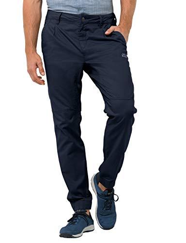 Jack Wolfskin Men's Blue Lake Cuffed Pants Men's Organic Cotton Travel Pants,Night Blue ,50 (U Small 34/32)