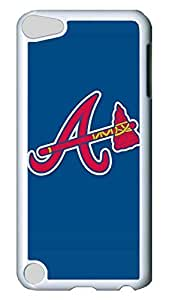GOOD For iPod Touch 5, iPod Touch 5 Case, Hot Sale Baseball Atlanta Braves Protective Hard PC Plastic Case Cover for Apple iPod Touch 5 5th Generation White