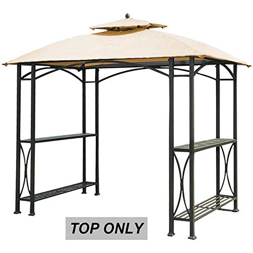 ABCCANOPY Gazebo Canopy Roof Top Replacement LGG040PSTA Grill Gazebo Canopy Beige