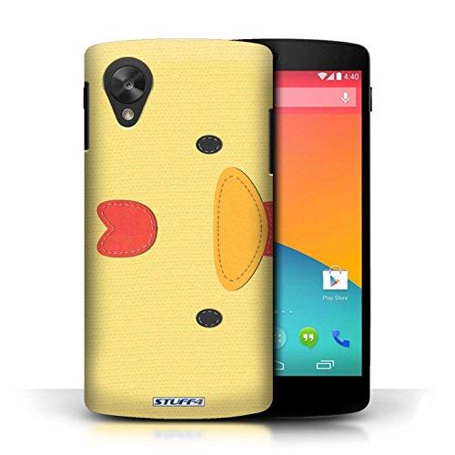 Coque de Stuff4 / Coque pour LG Google Nexus 5/D821 / Poulet Design / Cousu des Animaux Effet Collection