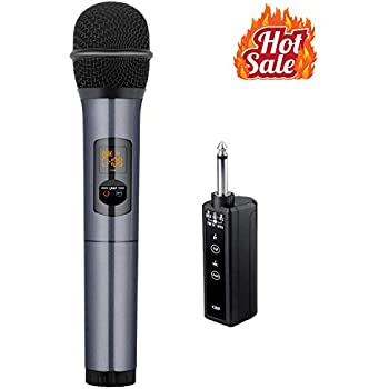 Kithouse K380F Wireless Microphone Bluetooth Karaoke Microphone Wireless Mic Microfono Handheld System - UHF Dynamic Cordless Singing FM Microphone For ...