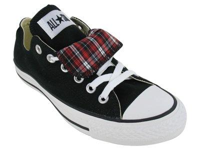 Converse Chuck Taylor All Star Plaid (Converse The Chuck Taylor All Star Double Tongue Plaid Sneaker in Black,6,Black)