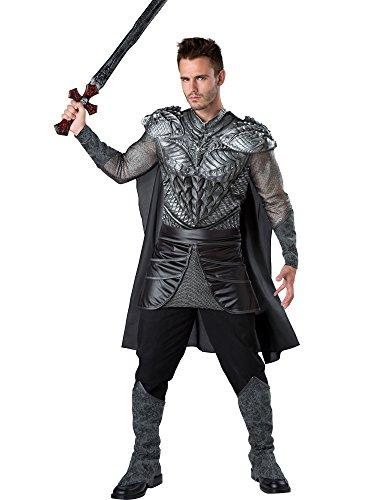 Fun World Men's Dark Medieval Knight Costume, Silver/Black, M for $<!--$35.78-->