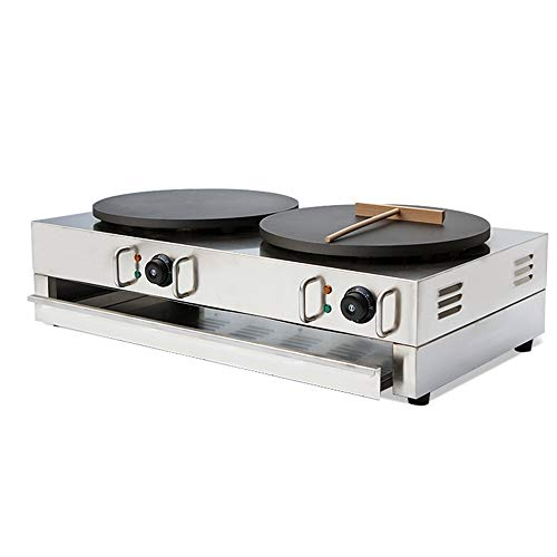 Wotefusi Electric Crepe Machine Griddle Commercial Snack Machine Electric Hot Plate (Double plates) 110V by Wotefusi (Image #2)