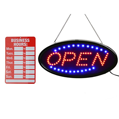Open LED Sign,LED business open sign advertisement board Electric Display Sign,Light Up Sign 18.9