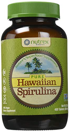 Nutrex Hawaii Pure Hawaiian Spirulina Pacifica - 500 mg - 400 Tablets (Nutrex Hawaii Hawaiian Spirulina)