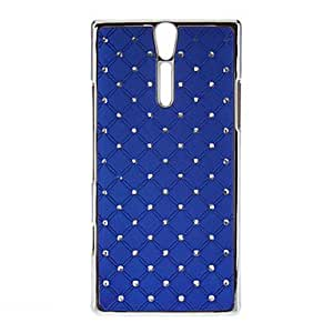 Diamond Look Hard Protective Case for Sony LT26i(Xperia S)(Optional Colors) --- COLOR:Blue