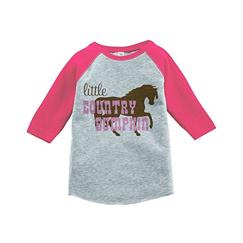 Custom Party Shop Girls' Novelty Cowgirl Vintage Baseball Tee 2T Pink and Brown (Cowgirls Outfits Ideas)