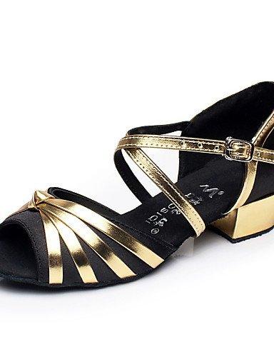 ShangYi Chaussures de danse ( Noir / Bleu / Rouge ) - Non Personnalisables - Talon Bottier - Flocage - Ventre / Latine / Salsa Black zu2jw