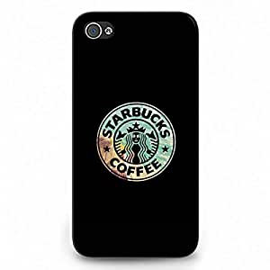 Starbucks Logo Phone Case Back Hard Plastic Case Cover For Iphone 4,Black Phone Case For Iphone 4