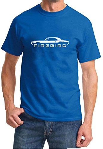 1967 1968 Pontiac Firebird Coupe Classic Outline Design Tshirt large royal