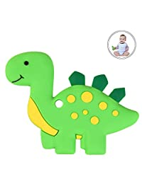 Dinosaur Baby Teether BPA Free Silicone Teething Toy for Newborn Baby Infant(Green)