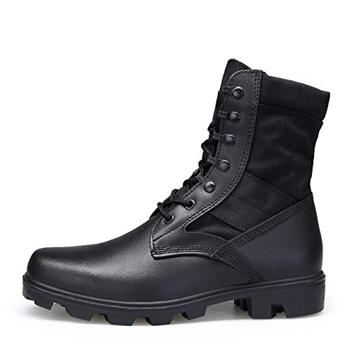 ENLEN and BENNA Mens Combat Boots Military Boots Tactical Leather Jungle Boots Desert Boots Black Composite Toe Lightweight Black 8.5 M US by ENLEN&BENNA (Image #3)