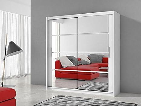 Armadio Ante Scorrevoli Occasione.Dako Furniture Armadio Ante Scorrevoli Dakota 160 Bianco 1 6 M 160