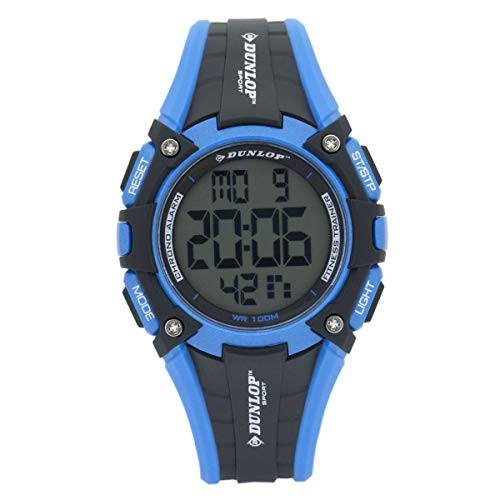 Dunlop Digital Watch Mens DUN245G03 Blue/Black Fitness Trainer Digital