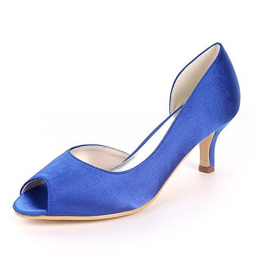 Zapatos Las Y1195 Peep Bombas De 08 Sandalias Ager Mujeres De Tac Flower Toe Awxq1vB6w