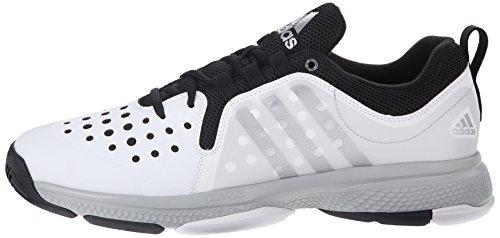 Rimbalzo Adidas Silver black Scarpe matte Classico Argento M Metallizzato Tennis White Da Performance Barricade Wid Bianco xr6StZxw