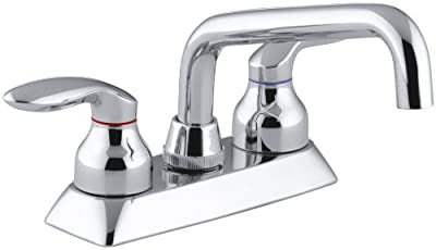 KOHLER 15270-4-CP Coralais(R) Lever Handles Utility Sink Faucets, Polished Chrome