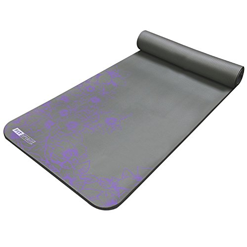Fit Spirit Extra Thick Yoga Mat Namaste Blue 194 189 Quot Inch